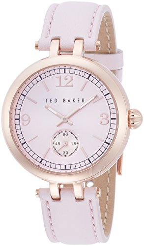 Ladies Womens Rose Gold Tone Quartz Battery Ted Baker Fashion Watch on Leather Strap. TE10023476