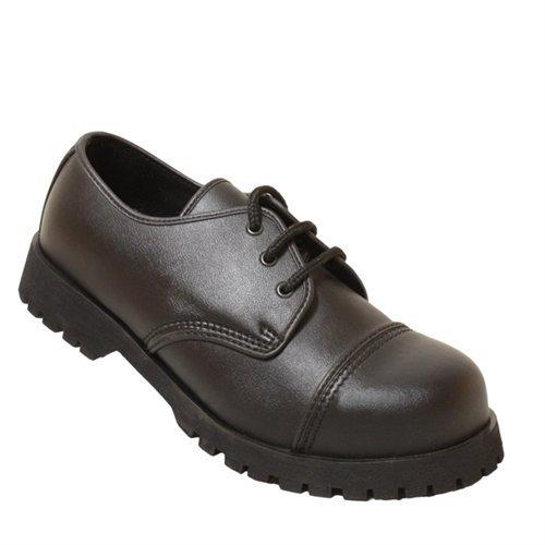 Boots & Braces 3-Loch Boots Vegan Boots Schwarz, Grösse 44