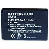 A Foto-vitesses Mesen nouveau 1200mah LP-E12 LPE12 batteries de remplacement de batteries pour CANON EOS-100D EOS M