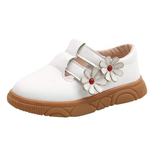 HDUFGJ Kinder Sandalen Mädchen Blumen-beiläufige Prinzessin Shoes Sandals Kinderschuhe Minions Hausschuhe Kinderschuhe Sale Clogs Riemchensandalen Geschlossene Sandalen26 EU(Weiß)
