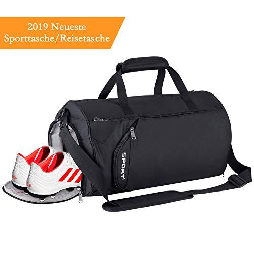 LC-dolida Sporttasche,28L Reisetasche mit Schuhfach wasserdicht,Fitness Tasche Sporttasche Herren