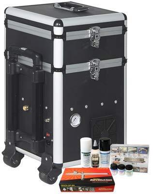 Iwata Modeleller Airbrush Kit mit Maxx Jet Kompressor/Aufbewahrungseinheit -