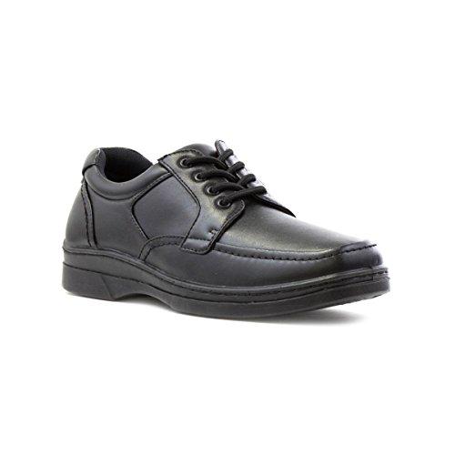 Hobos Mens Black Lace Up Shoe - Size 7 UK - Black