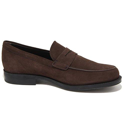 9123N mocassino TOD'S GOMMA CLASSICO marrone scarpe uomo loafer men Marrone