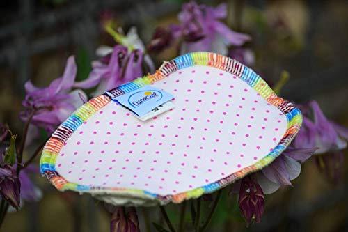 Spülschwamm aus Bio-Baumwolle, 2 Stück, Spüllappen, reinigen, umweltfreundlich, ökologisch, spülen, abwaschen, Haushalt, Spültuch, ca. 9 x 13 cm, rosa Punkte pink, waschbar, Zero Waste Punkte 9