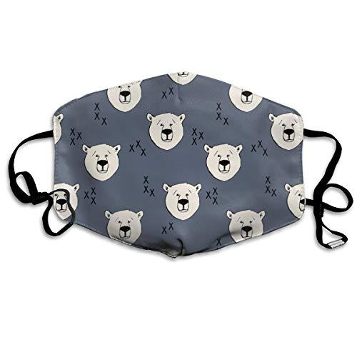 Preisvergleich Produktbild Polar Bear Dark Blue Anti Dust Mask Anti Pollution Washable Reusable Mouth Masks