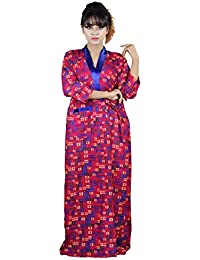 498cbfbef3cfa8 CLYMAA® Cotton Free Size Robe House Coat Night Gown Cotton Gown (Fit Up to  Height 5 Feet 5 inches   Breast 44 inches and Hip 45 inches)…