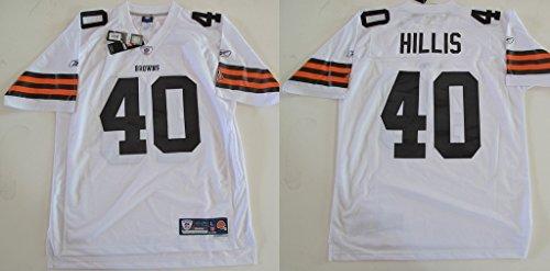 NFL Football Trikot/Jersey Premier CLEVELAND BROWNS Peyton Hillis #40 white in LARGE (L) (Browns Cleveland Bekleidung Herren)