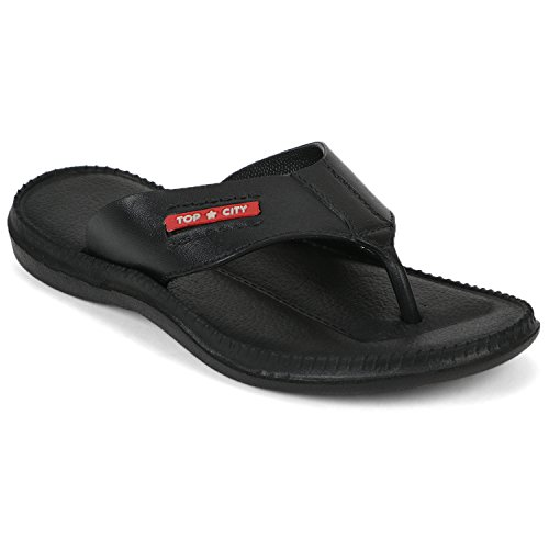 DzVR Men's And Boy's Black Slippers And Flip Flops (9)