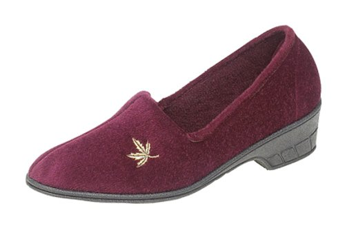 Sleepers , Chaussons pour femme Rouge - Bordeau