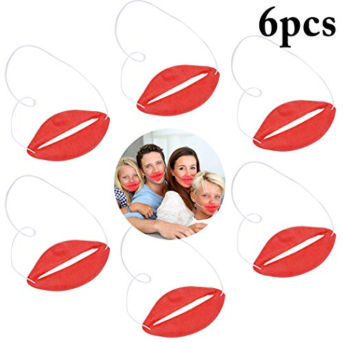 oße Dicke Lippen Neuheit Prop Kostüm Prop Streich Spielzeug Halloween Prop Party Spielzeug ()