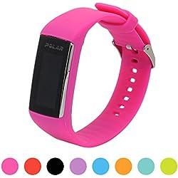 Correa de repuesto para pulsera de actividad Polar A360 Smart Watch iFeeker, correa de silicona y goma para la pulsera de actividad A360 (solo la correa, no incluye el reloj), Rose Rot