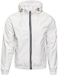 Soulstar Mens Windbreaker Jacket Lightweight Hooded Rain Coat