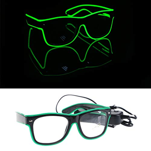 only y Nur y EL Wire Goggles Glow Cool Glasses LED-Sonnenbrillen-Party