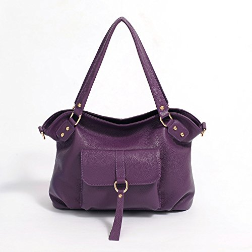 Chlln Eine Springflut Mode Leder Handtasche Leder Damen Handtasche Tasche Retro - Pendler - Cross - Leder - Tasche Violet