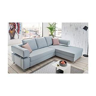 HTI-Living Wohnlandschaft Ravia Ecksofa, Sofa, Couch, Stoff Grau, Schlafsofa