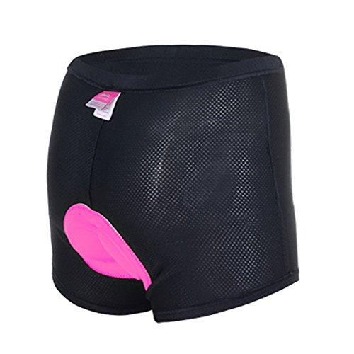 ANGTUO Frauen 3D gepolsterte Unterhose Fahrrad Radfahren Shorts Hosen stoßfest mit hoher Luftdurchlässigkeit