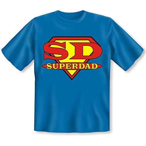 "orginelles und witziges T-shirt Set / Vatertag Farbe: royal-blau "" SD SUPERDAD "" Royal-Blau"