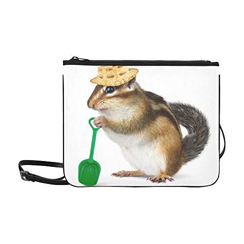e Kaninchen in den Wollhüten-Muster-Gewohnheits-hochwertige Nylon-dünne Handtasche Umhängetasche Umhängetasche ()