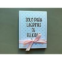 Lágrimas de Felicidad para Bodas con pañuelo corazones rosas 70 unidades