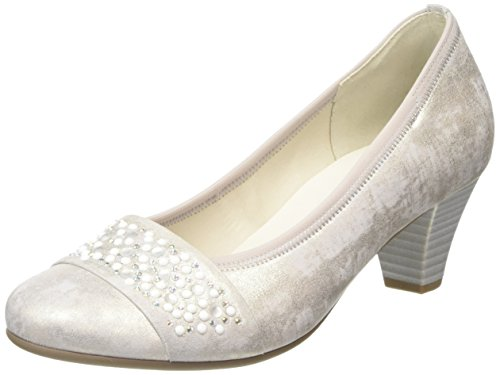 Gabor  Wallace,  Damen Pumps , Beige - Beige (Beige Metallic Leather), Gr. 39 EU (6 UK)
