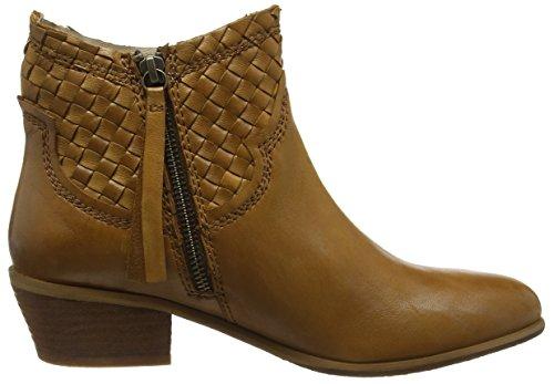 Spm Calais Ankle Boot, Bottes de motard courtes, doublure froide femme Marron - Braun (Dk Cuoio 011)