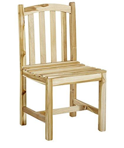 Trendy-Home massiver Stabiler Teaksessel Durango Teak Stuhl Gartenstuhl Holzstuhl ohne Armlehne