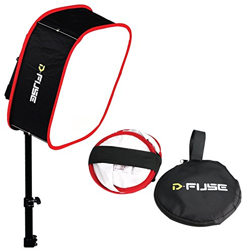 D-Fuse Faltbare tragbare Softbox für 1 x 1 Studio LED Panel M 23,25 x 23,25 Zoll -