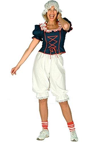 Pluderhose, knielang, Kostümzubehör ideal für Trachten und historische Kostüme, weiss - 40/42