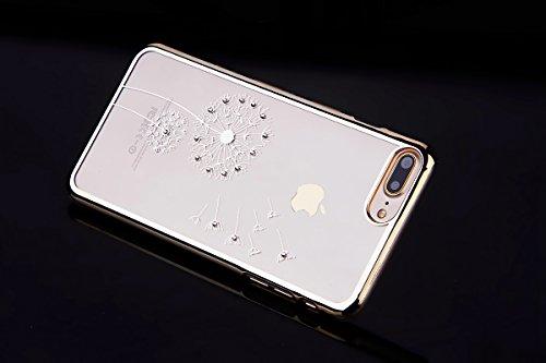 SainCat Coque Housse pour Apple iPhone 7 Plus,Transparent Coque Silicone Etui Housse,iPhone 7 Plus Silicone Case Soft Gel Cover Anti-Scratch Transparent Case TPU Cover,Fonction Support Protection Comp Le pissenlit-Or