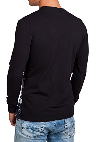 BOLF – Sweat-shirt – Manches longues – U-neck – Homme – MIX Noir_70