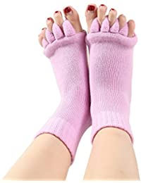 EOZY Chaussette Yoga Pilates Exercice Sport Mitaine Sans Orteils Adulte