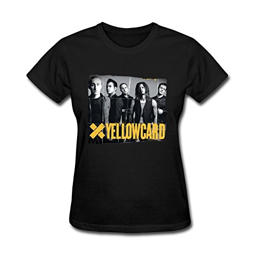 pk6b7d Yellowcard Ryan chiave t shirt per le donne Black X-Large