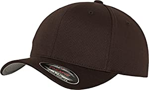 Flexfit 6277 Wooly Unisex Combed Cap, brown, S/M