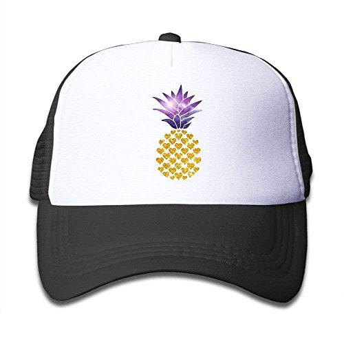 Vidmkeo Gold Glitter Space Pineapple Boy & Girl Baseball Caps Mesh Hat Fashion Sunhats C4