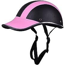 Motocicleta Media Cara Casco Cascos Protectores Equitación Casco Cuero Gorra de Beisbol para Hombres Mujer Chicas