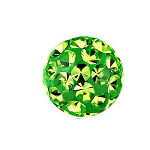 eeddoo Piercingkugel Klemmkugel Kristall LG - Light Green/Hell Grün Epoxy 4 mm Lg Green