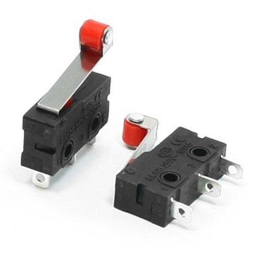 Kcopo Mikroschalter Schalter mit Roll Hebel AC 125V 250V 5A 3 Pins SPDT Momentaner Mikro Endschalter Druckknopf Aktion 10 Stück Mikroschalter Endschalter