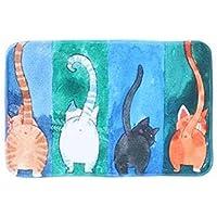 Nette Katze Rutschfest Badematte Badezimmer-Teppich