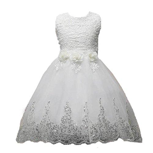 Sannysis Mädchen Kleider Festliche Kinderkleider Mädchen Lange Kleid Spitzenkleid mit Blumen...