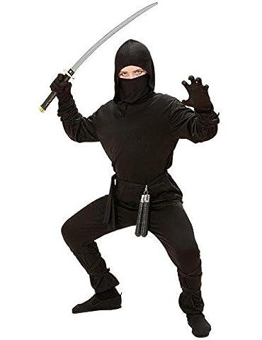 Ninja Kinderkostüm Krieger schwarz 110/122 (5-7 Jahre)