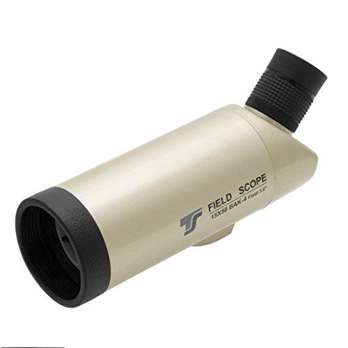 TS-Optics Tssp1550 handliches Reisespektiv 15x55mm Spektiv mehrfach multivergütetes Objektiv BaK-4 Prismen Wanderung Sportveranstaltung Reisen