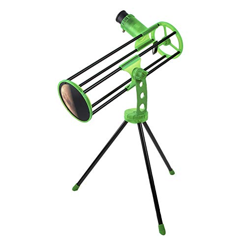 Carson Skelescope Reflector Beginner Telescope with Table Top Tripod for Astronomy (SK-100)