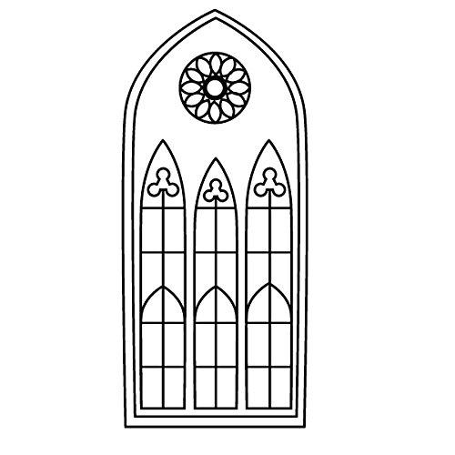 Wadeco Gotisches Fenster schmal Wandtattoo Wandsticker Wandaufkleber 35 Farben verschiedene Größen, 69cm x 160cm, lavendel
