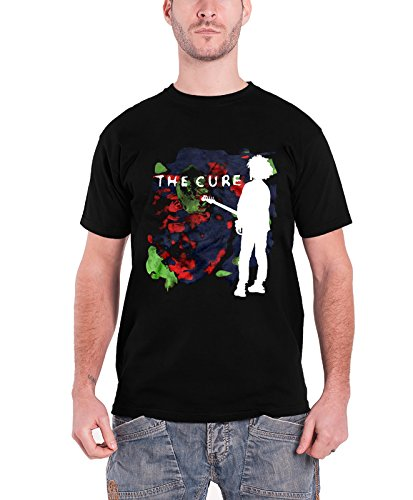 The Cure T Shirt Boys Dont Cry Classic Band Logo offiziell Herren Nue Schwarz (Punk-band-retro-rock-shirt)