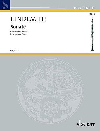 Sonate: Oboe und Klavier. (Edition Schott)
