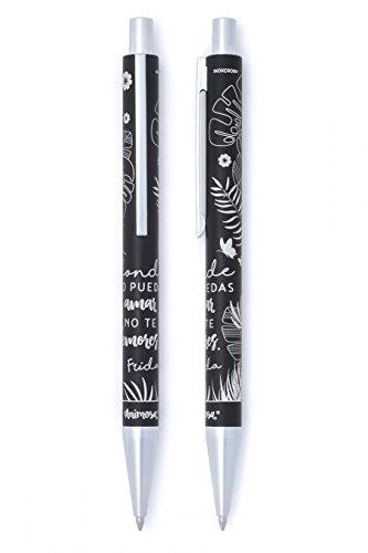 Bolígrafo negro Frida no te demores