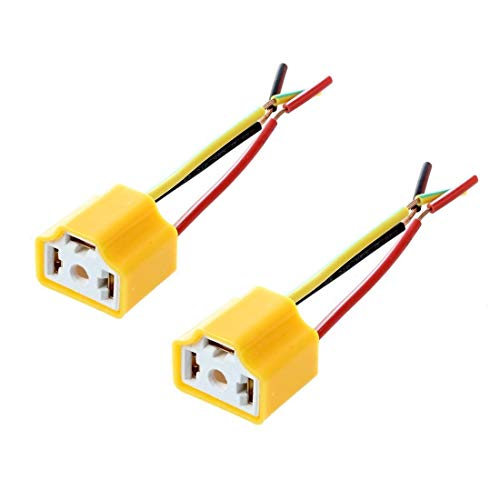 TOOGOO(R) Voiture Auto Phare Connecteur Fiche H4 Lampe Ampoule douille 2 Pcs