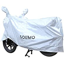 Solimo Water Resistant Bike Cover (Silver)