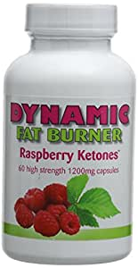 Dynamic Fat Burner 1,200 mg Raspberry Ketones Capsules - Pack of 60 Capsules